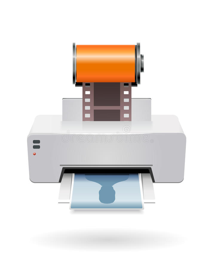 照相机影片打印 库存例证