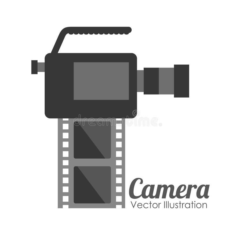 照相机影片设计 皇族释放例证