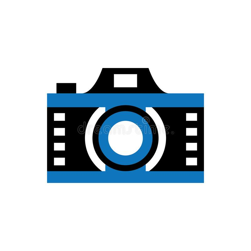 照相机影片透镜蓝色商标传染媒介 皇族释放例证