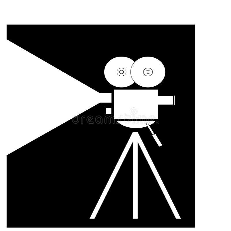 照相机摄制电影 皇族释放例证