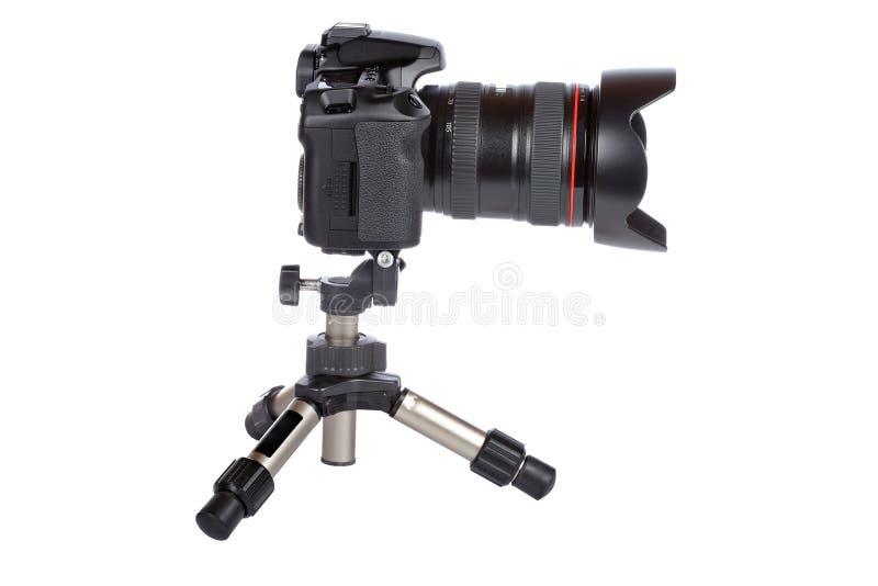 照相机数字式微型slr三脚架 免版税库存图片