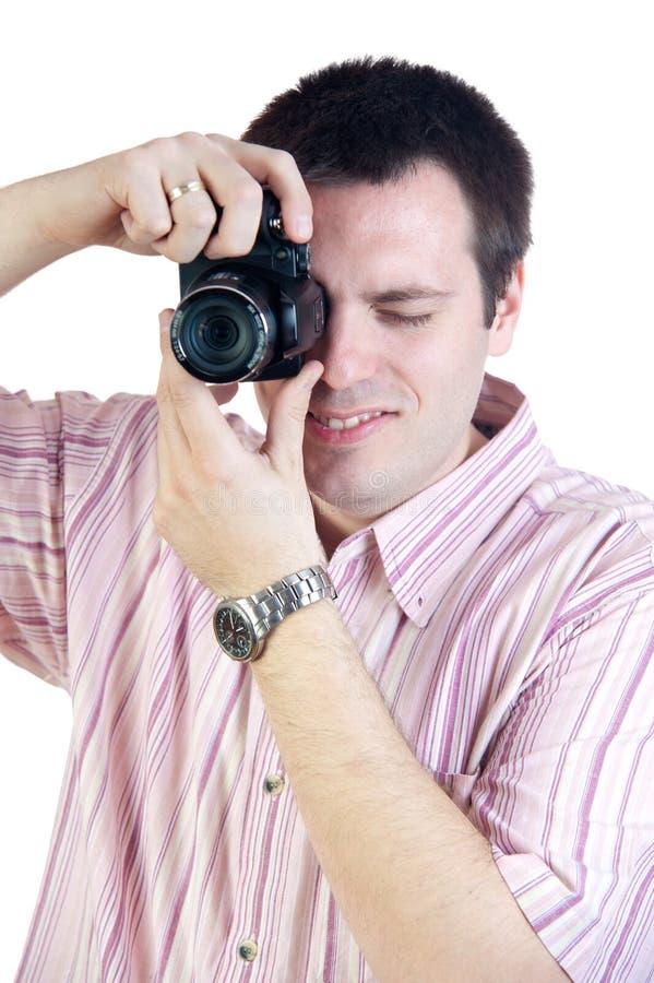 照相机数字式摄影师射击 免版税库存照片
