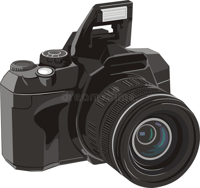照相机数字式照片 库存例证