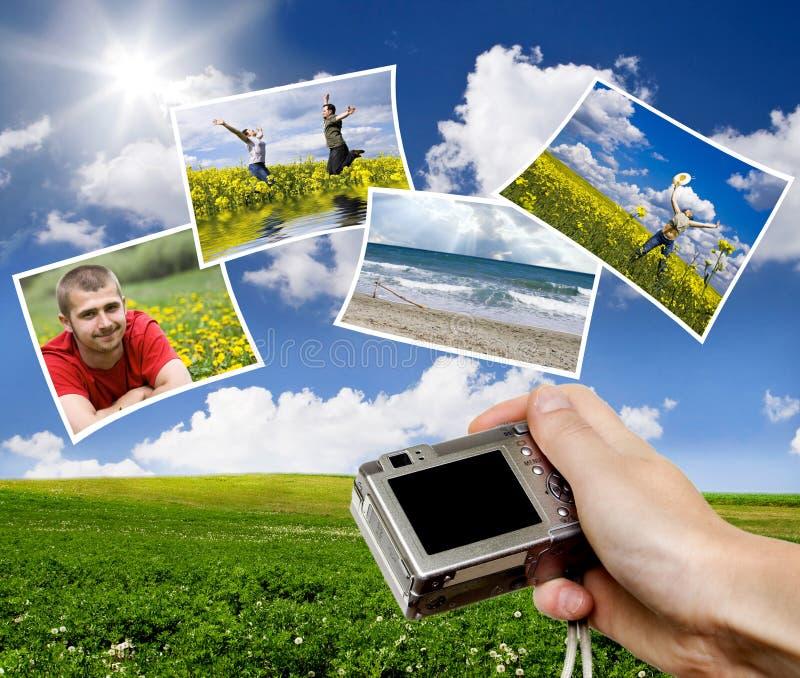照相机数字式象点射击 图库摄影