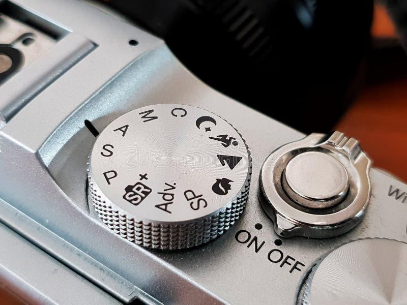 照相机方式拨号盘按钮 免版税库存图片
