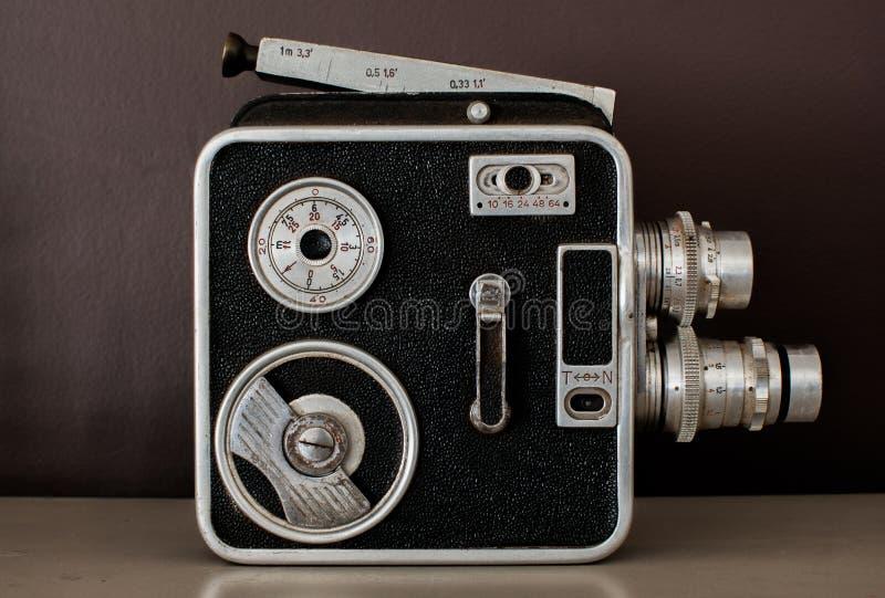 照相机查出在测距仪葡萄酒白色 免版税库存图片