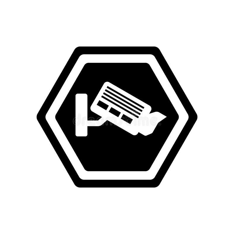 照相机标志在白色背景隔绝的象传染媒介,照相机信号 向量例证