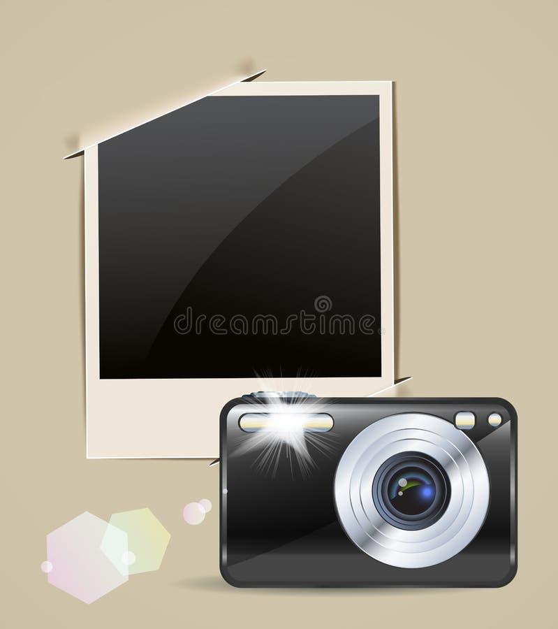 照相机框架照片 皇族释放例证
