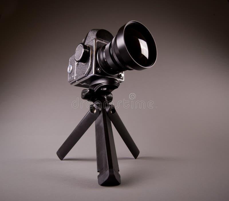 照相机灰色喂老照片res三脚架 免版税库存图片