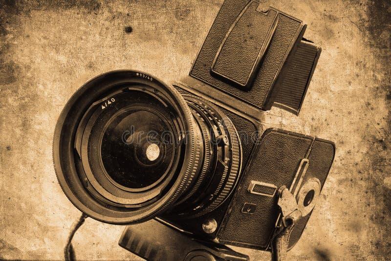 照相机照片 库存例证