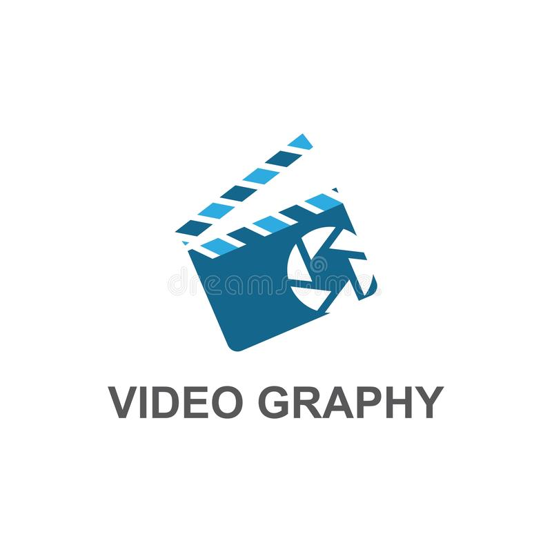 照相机电影商标传染媒介 向量例证
