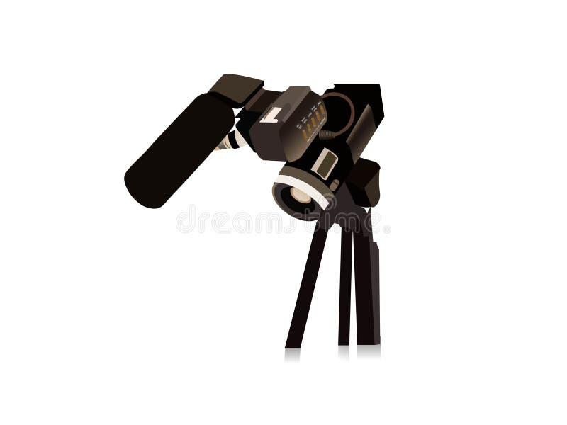 照相机电影 向量例证