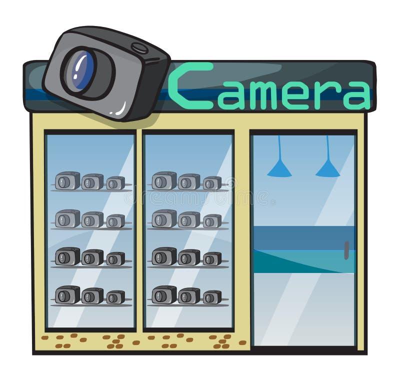 照相机界面 库存例证