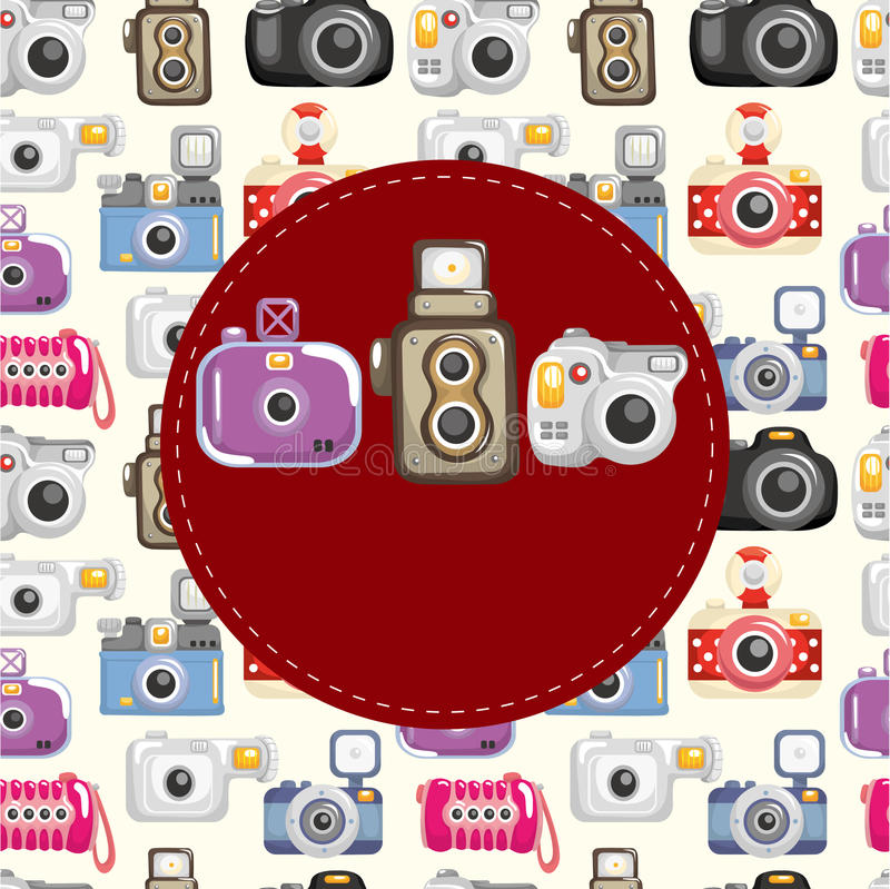 照相机看板卡动画片 皇族释放例证