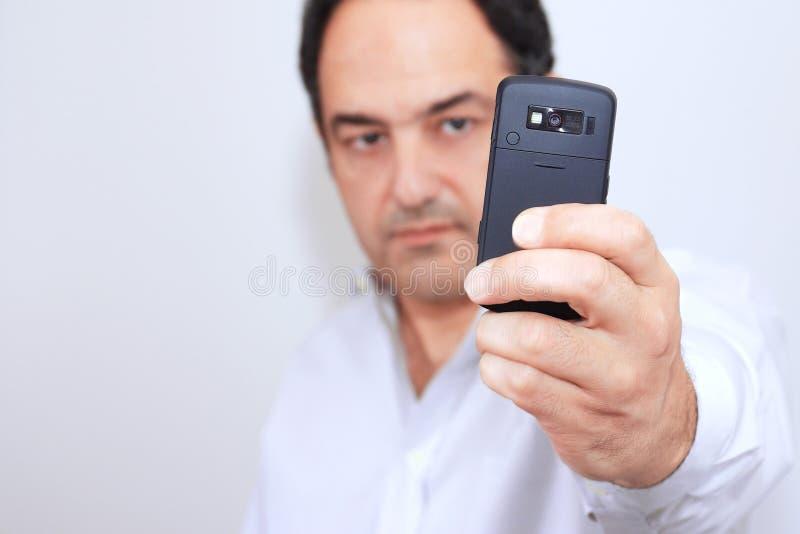 照相机移动电话 免版税库存照片