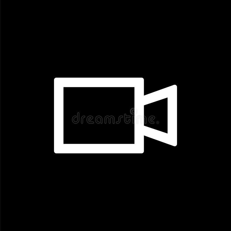 照相机简单的平的样式ui设计的camcoder象 库存例证