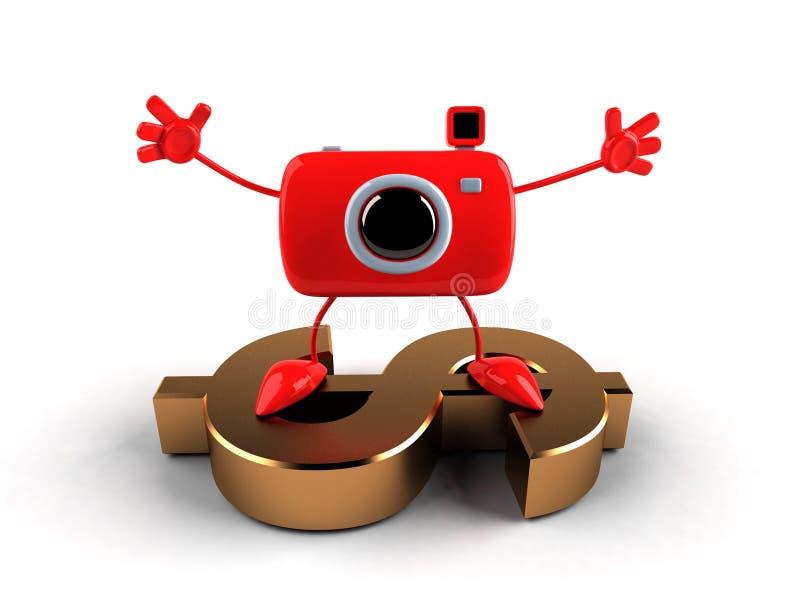 照相机美元 库存例证