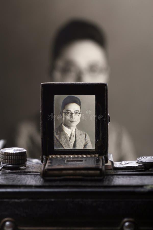 照相机老s反光镜 库存图片