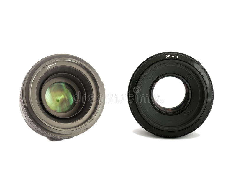 照相机被隔绝的照片透镜 库存图片