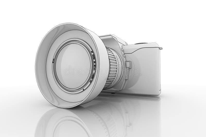 照相机设计 库存例证