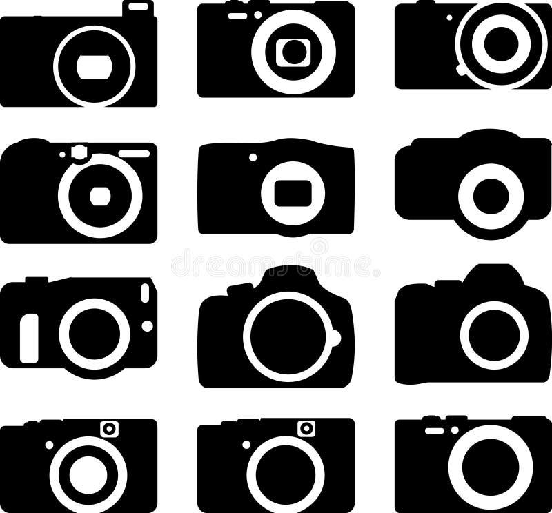 照相机象被设置12 库存例证