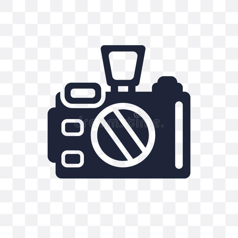 照相机透明象 照相机从电子de的标志设计 皇族释放例证