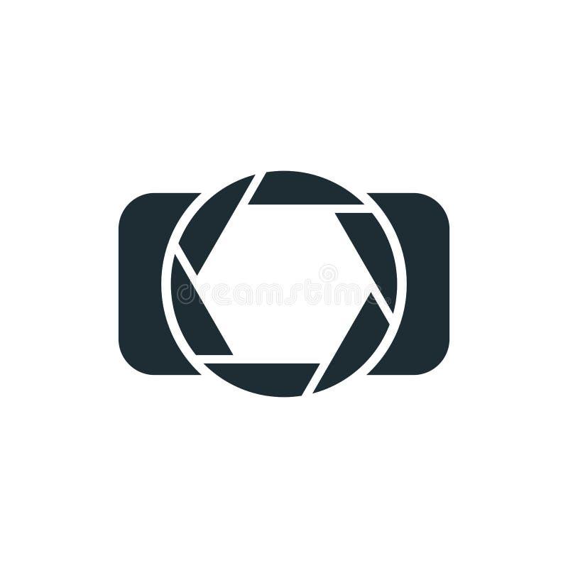 照相机,简单的概念商标 皇族释放例证