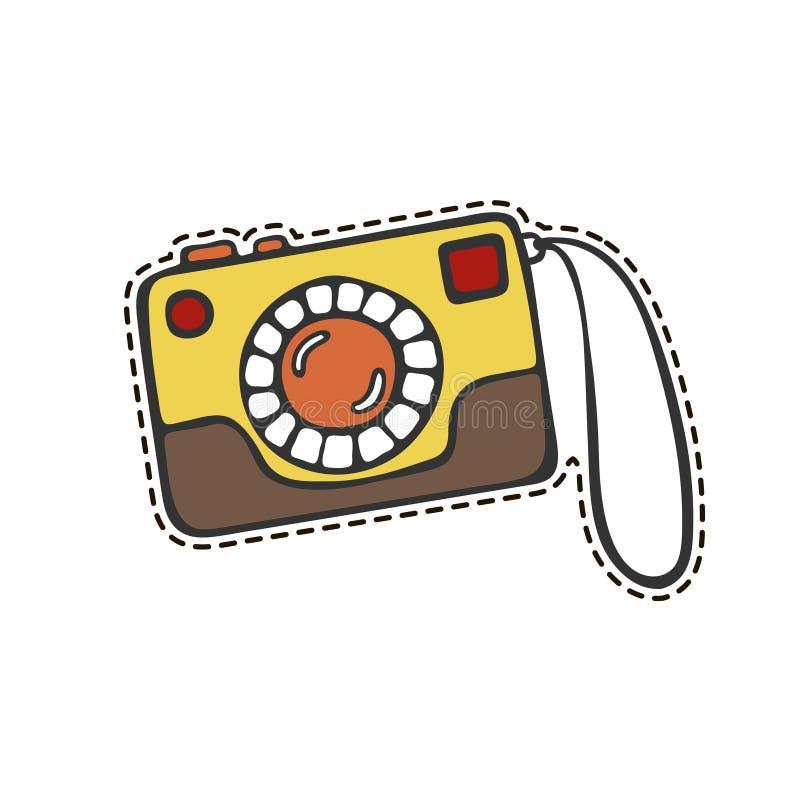 download 照相机贴纸 向量例证.