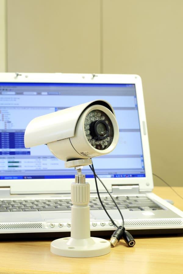 照相机cctv计算机 免版税库存图片