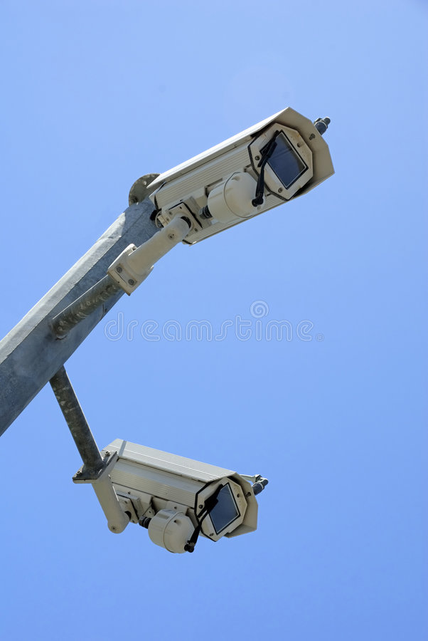 照相机s证券监视 免版税库存图片