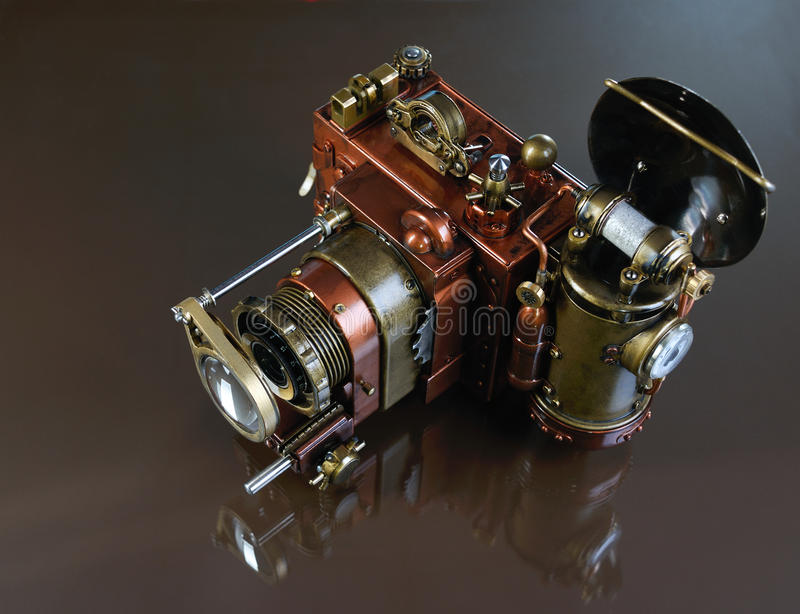 照相机steampunk。 免版税图库摄影