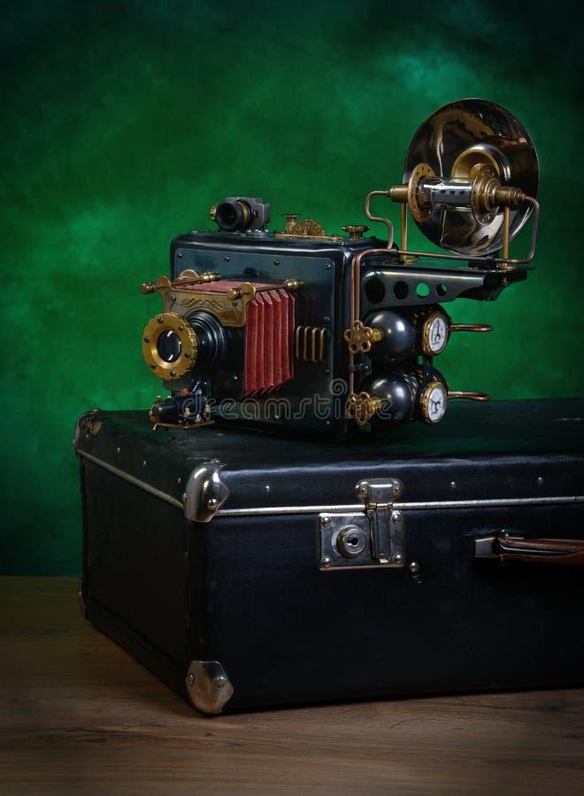 照相机steampunk 免版税库存照片