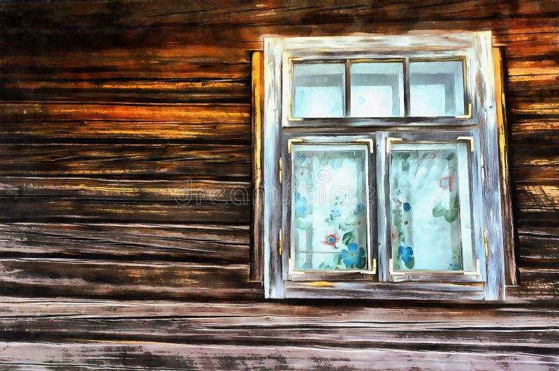 仿照水彩绘画样式的工作 老视窗 库存例证