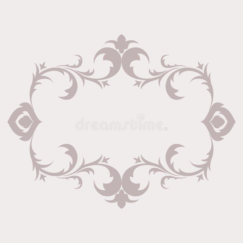 仿照巴落克式样样式的花卉框架 装饰 库存例证