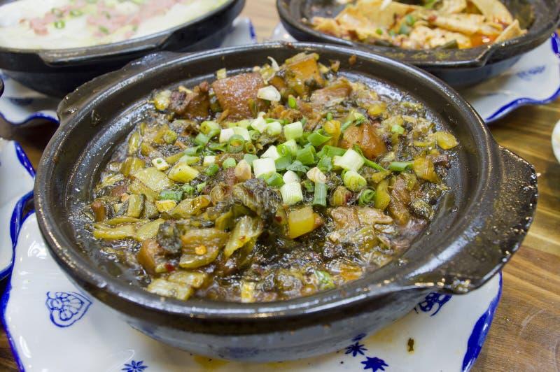 煮沸的中国德国泡菜酱油猪肉 免版税库存照片