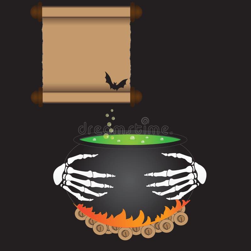 煮沸的大锅 免版税库存图片
