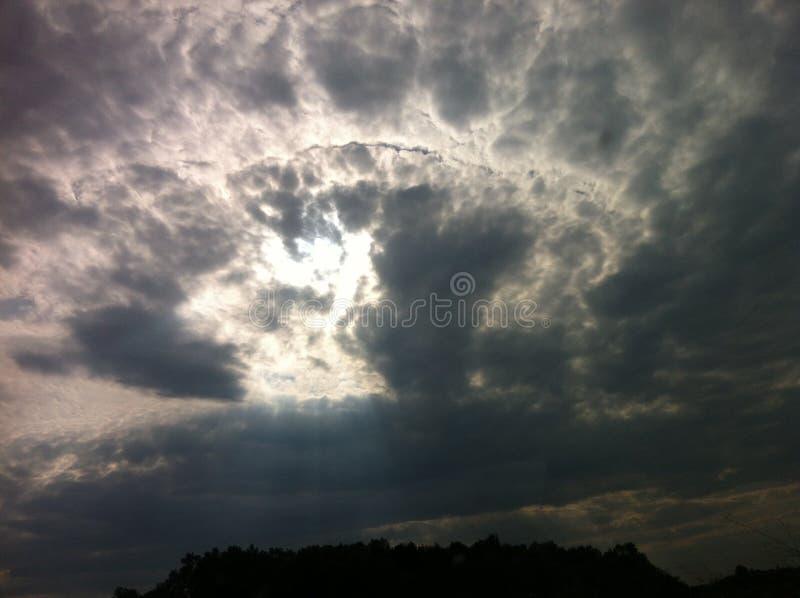 煮沸的天空 免版税图库摄影