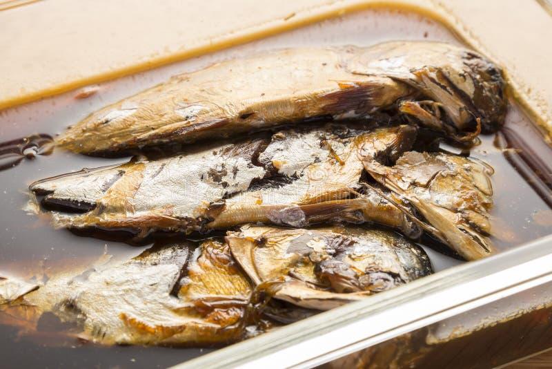 煮沸的泰国鲭鱼 免版税库存照片