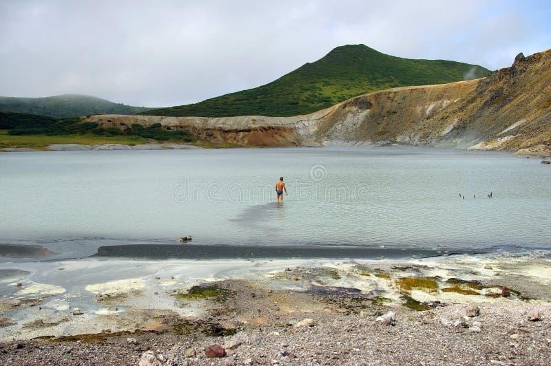 煮沸的湖 免版税库存图片