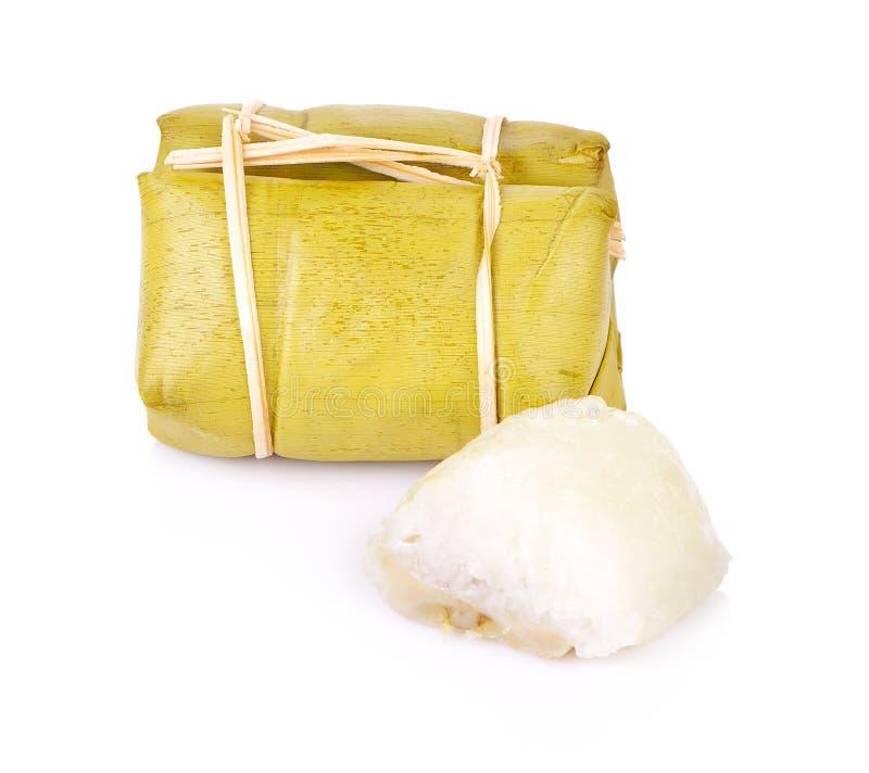 煮沸的甜点包白色背景的伙计泰国 图库摄影