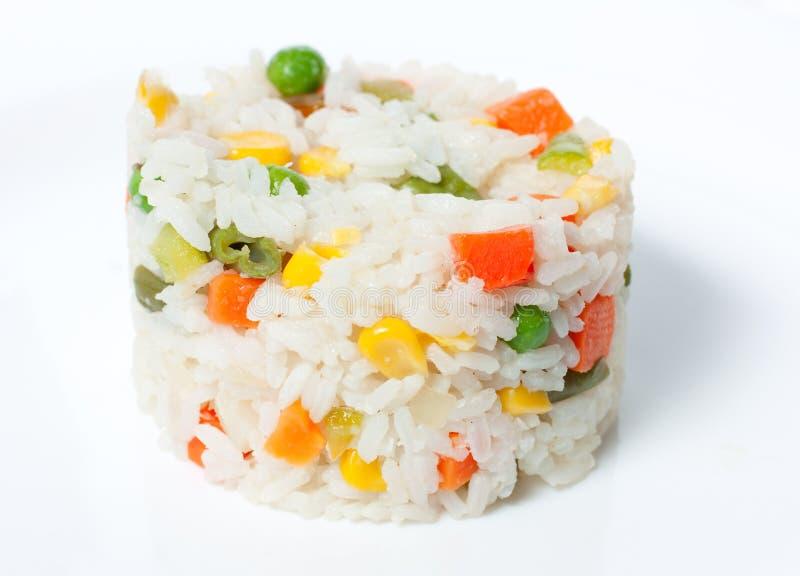 煮沸的米蔬菜 免版税库存图片