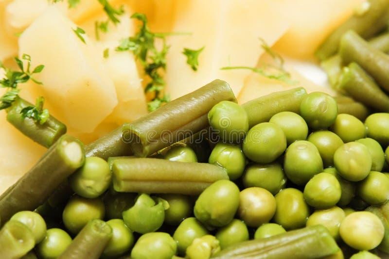 煮沸的蔬菜 库存照片