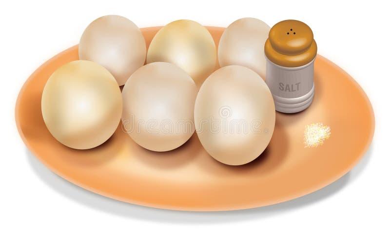 煮沸的蛋向量 库存例证