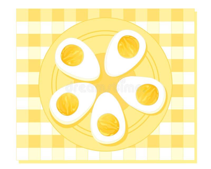 煮沸的蛋坚硬 皇族释放例证