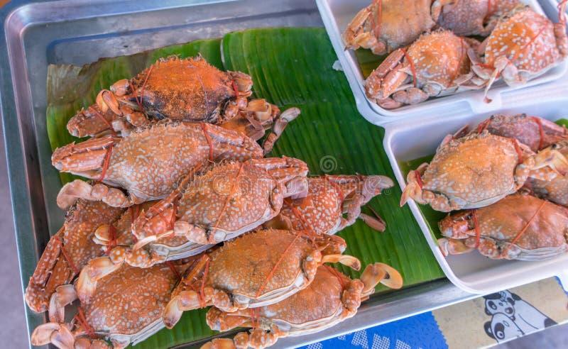 煮沸的螃蟹 库存照片
