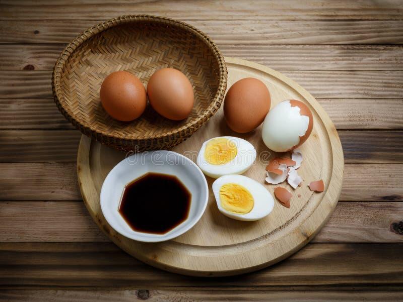 煮沸的鸡蛋 免版税库存图片