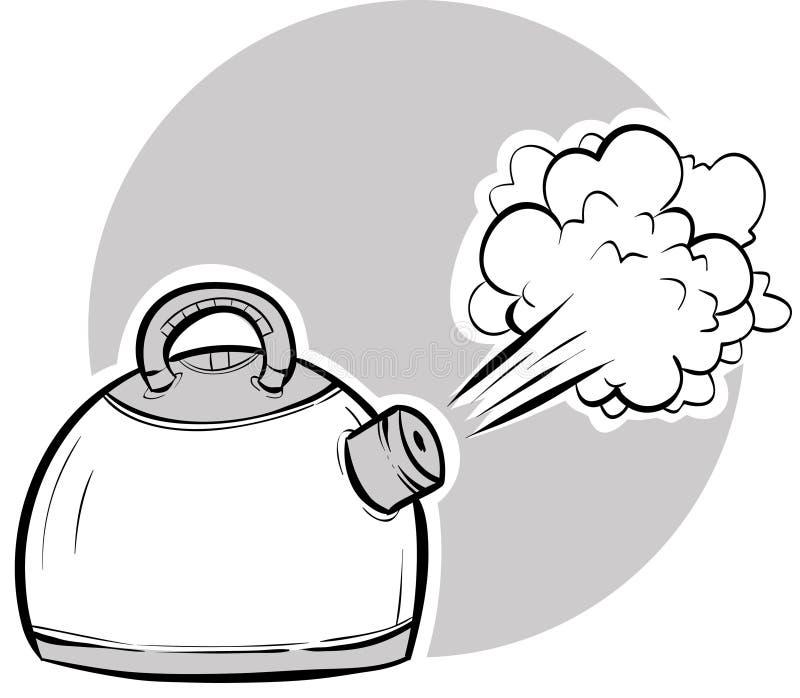煮沸的水壶 皇族释放例证