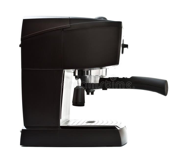 煮浓咖啡器侧视图 免版税库存照片