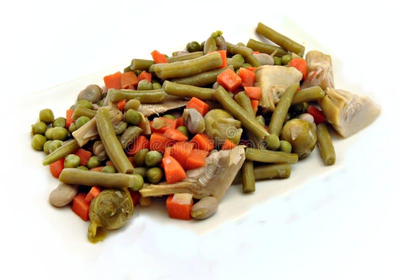 煮熟的多种蔬菜 库存照片