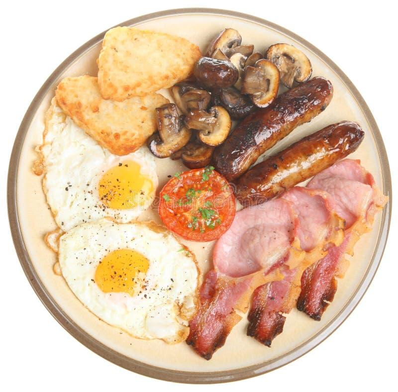 煮熟的早餐 免版税库存图片